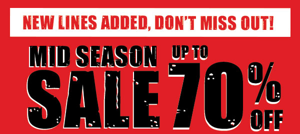 Mid season sale up to 70% off new lines added + free worldwide delivery on orders over £50 at Blueinc.co.uk